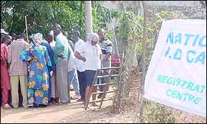 Queues outside registration centre