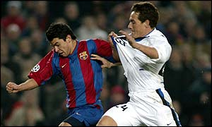 Javier Saviola scored the first goal for Barcelona