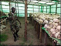 Genocide skulls in Rwanda