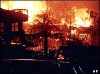 Bali bomb blast scene