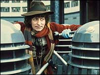 Tom Baker with his arch-foes