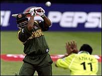 Akram Khan batting against Pakistan