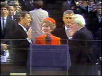 Ronald Reagan sworn in as president in 1981