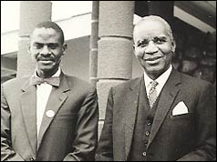 Kanyama Chiume (left) with Hastings Kazumu Banda
