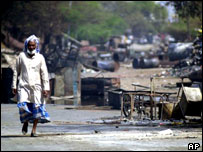 Aftermath of rioting in Ahmedabad, Gujarat