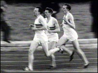 With Chataway and Bannister in the famous mile race