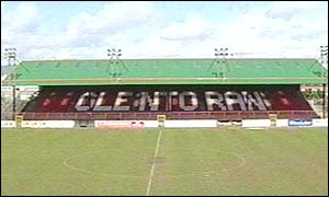 Glentoran play thier home games at the Oval in east Belfast