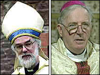 Archbishops Dr Rowan Williams and Cardinal Cormac Murphy O'Connor
