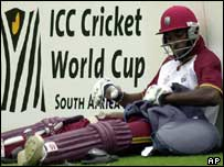 Chris Gayle prepares for a net session