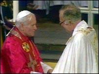 With Archbishop Robert Runcie in 1982