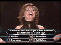 Carol Vorderman on celebrity edition of Who Wants To Be A Millionaire?