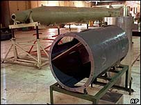 Al-Samoud II missile parts in Iraq