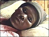 African girl dying of Aids