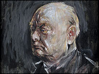 Portrait of Sir Winston Churchill, oil on canvas, 1954 [c] Estate of Graham Sutherland