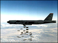 Bomber dropping bombs   US Dept of Defense/PA