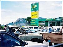 Queue for petrol