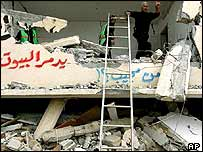 The rubble of a Palestinian house destroyed by Israelis in the Gaza Strip