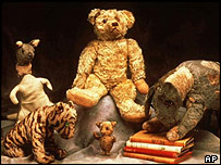 Winnie the Pooh and other characters from A A Milne's books