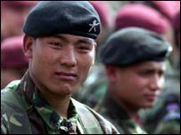 Gurkha troops (copyright: MoD)