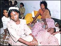 Wounded tribals