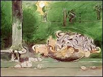 Forest With Chains [1973] [c] Estate of Graham Sutherland