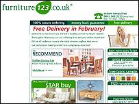 Furniture123 webpage