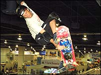 Tony Hawk in action
