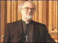 Archbishop of Canterbury Dr Rowan Williams at Lambeth Palace