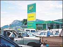 BP petrol station in Zimbabwe