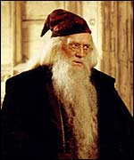 Richard Harris in Harry Potter