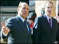 Berlusconi and Blair