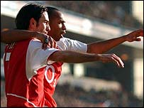 Arsenal duo Robert Pires and Thierry Henry