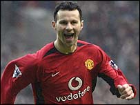 Man Utd's winger Ryan Giggs