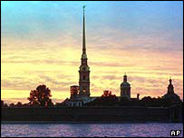 St Peter and Paul fortress in St Petersburg