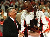 Michael Jordan wins another most valuable player award