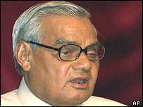 Indian Prime Minister Atal Behari Vajpayee