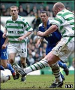 John Hartson scores from the penalty spot