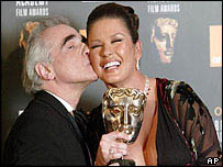Martin Scorsese congratulates Catherine Zeta Jones