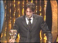 Adrien Brody accepted an award for Polanski