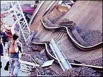 مشهد بعد زلزال كوبي