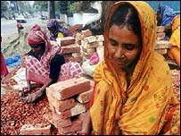 Woman brick worker in Bangladesh
