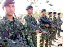 Gurkha soldiers in the British army