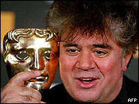 Pedro Almodovar receives a Bafta for film not in the English language