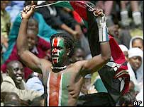 Kenyan supporters in Nairobi