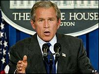 President Bush addresses a press conference