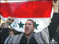 Egyptian protester against war on Iraq
