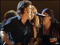 Bruce Springsteen performs at the Grammys