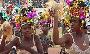 Women celebrating the opening of Fespaco