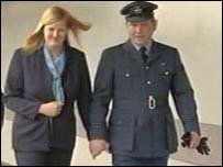 Sue Williams and Flight Lieutenant Malcolm Williams
