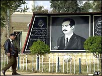 A tribute to Saddam Hussein in Baghdad